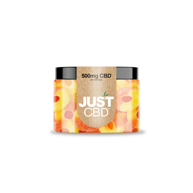 JustCBD Gummies 500mg Jar - Peach Ring