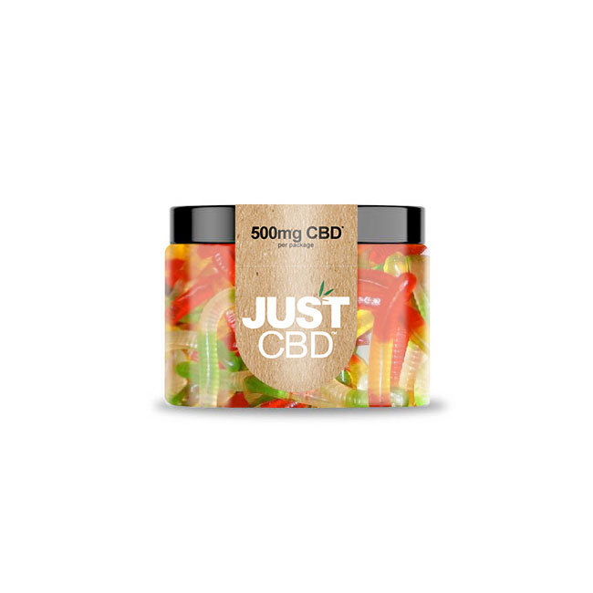 JustCBD Gummies 500mg Jar - Worms