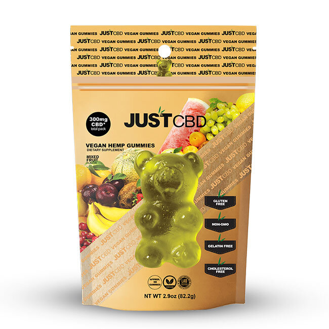 JustCBD Mixed Fruit Vegan Gummies 300mg