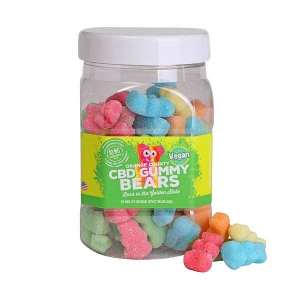 Orange County CBD Gummy Bears - Large Tub