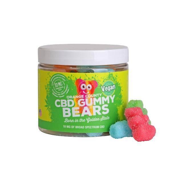 Orange County CBD Gummy Bears - Small Tub