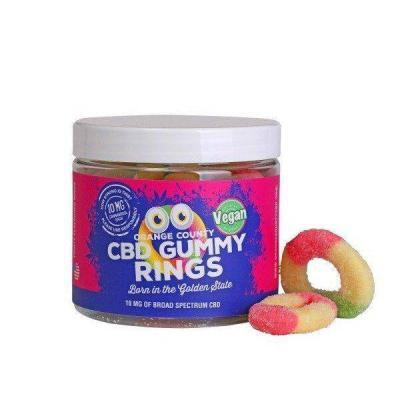 Orange County CBD Gummy Rings - Small Tub
