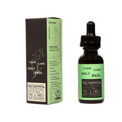Pachamama Ylang Ylang Holy Basil CBD Oil 30ml - 750mg