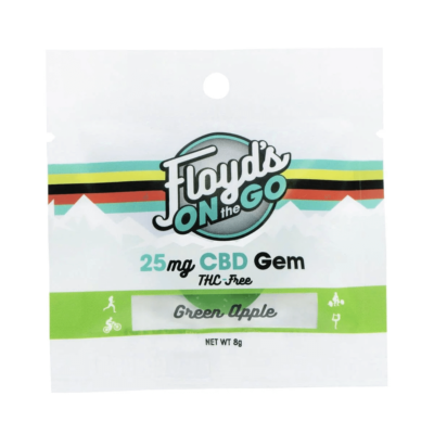 Green Apple Isolate CBD Gems - 25mg