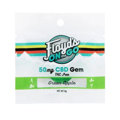 Green Apple Isolate CBD Gems - 50mg