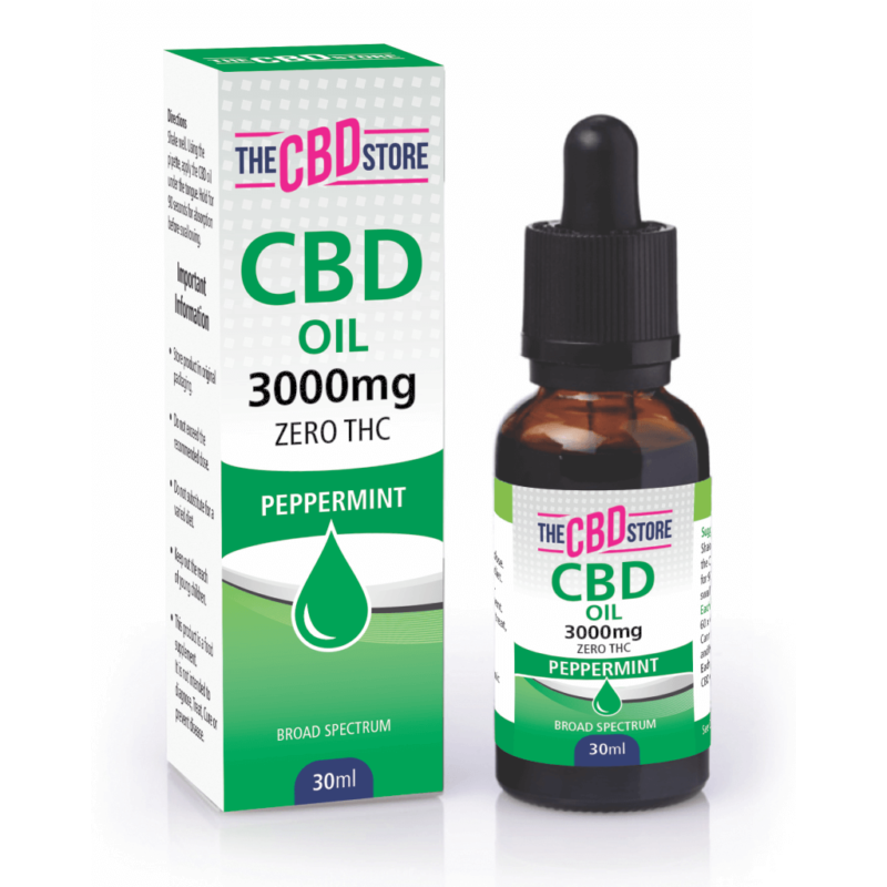 The CBD Store - CBD Oil Peppermint Flavour