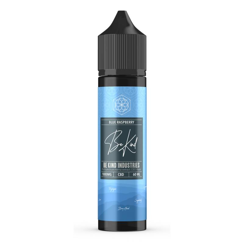 Be Kind Industry's Blue Raspberry CBD E-Liquid 60ml 1000mg