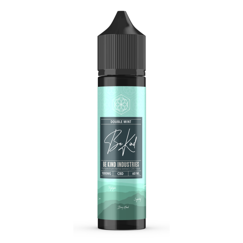 Be Kind Industry's Double Mint CBD E-Liquid 60ml 1000mg