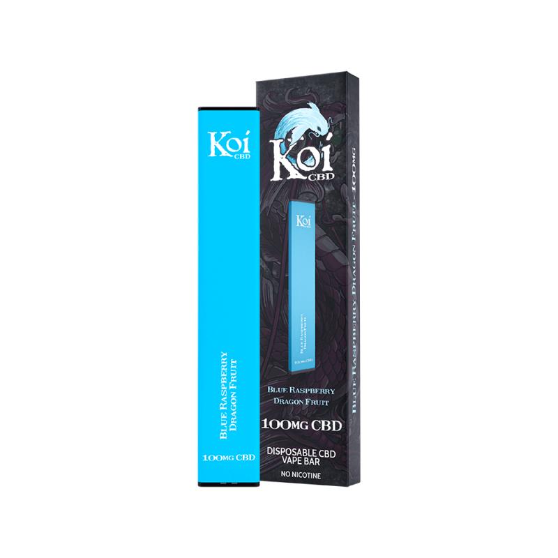 Koi CBD Disposable Vape Bar Blue Raspberry Dragon Fruit