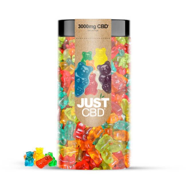 JustCBD Gummies 3000mg Jar - Clear Bears