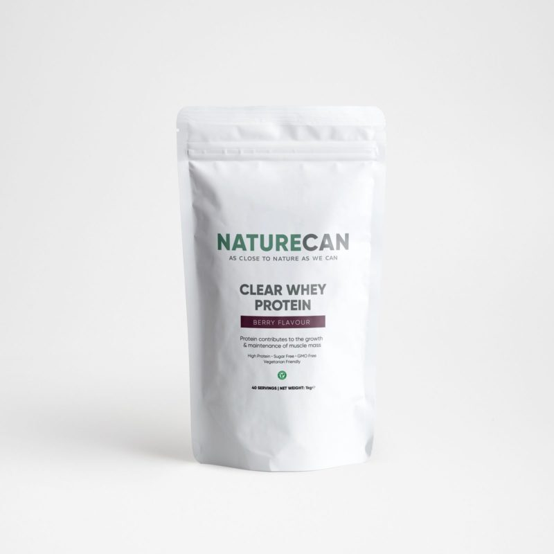 Naturecan Clear Whey Protein Isolate 1kg - Berry