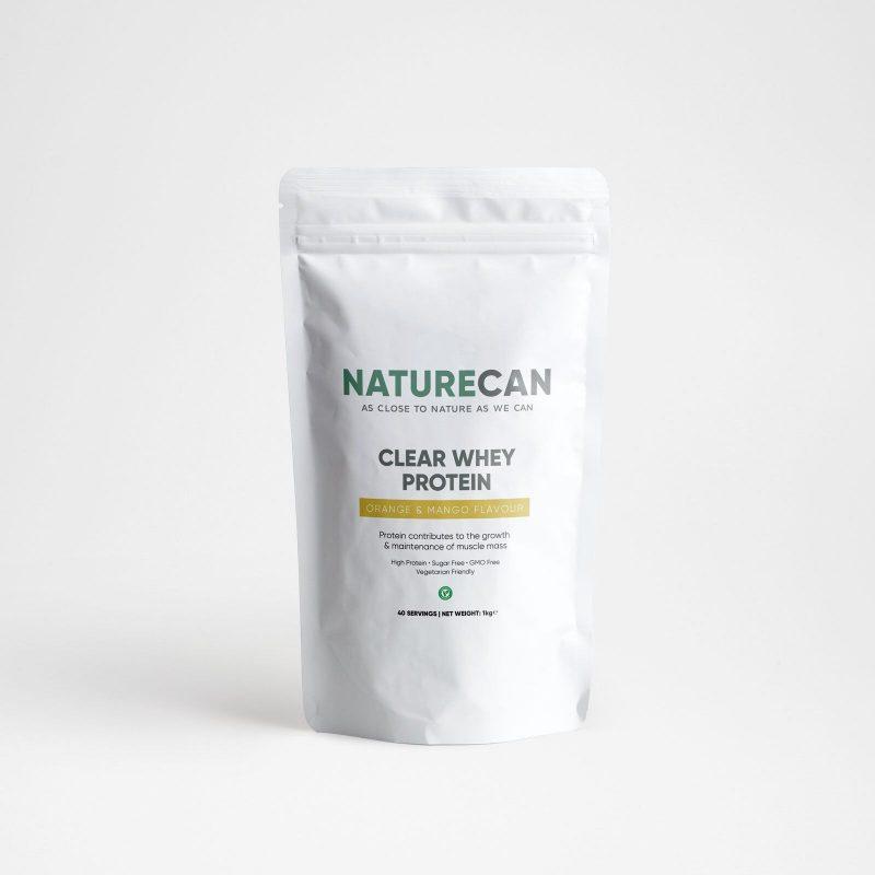 Naturecan Clear Whey Protein Isolate 1kg - Orange Mango