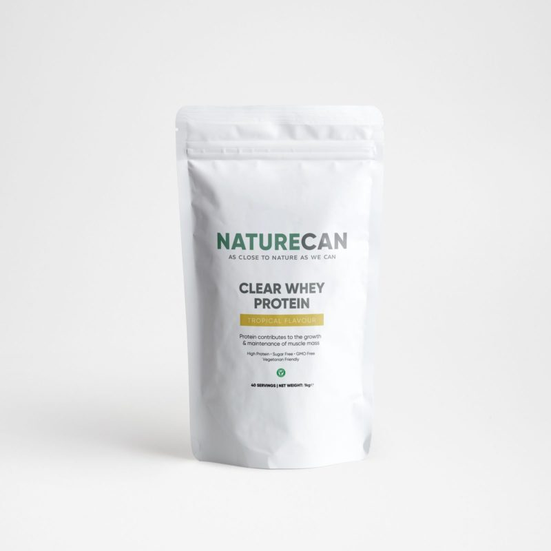 Naturecan Clear Whey Protein Isolate 1kg - Tropical