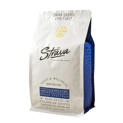 Strava CBD Infused Dark Roast Colombian Coffee 340g - 500mg